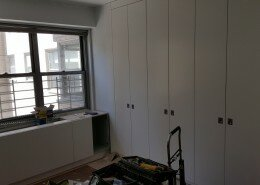 living room closet millwork E56th street nyc
