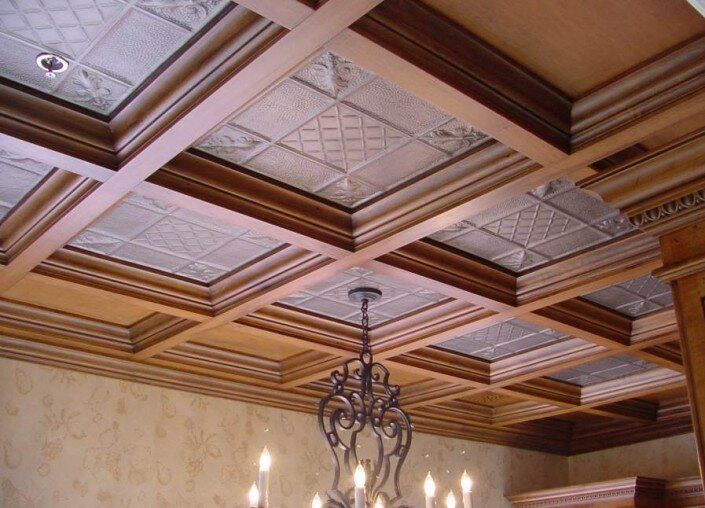 woodwork ceiling panels