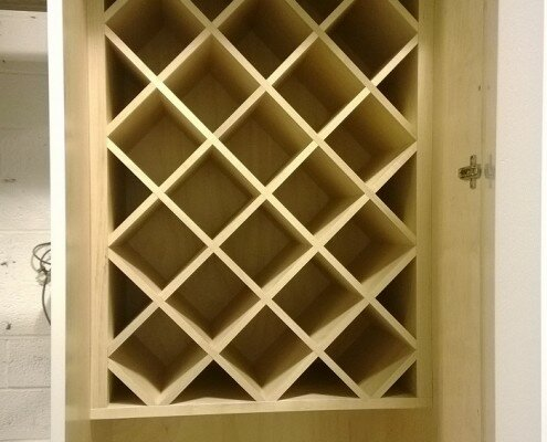 wet bar nyc - wine cabinet - woodwork in progress