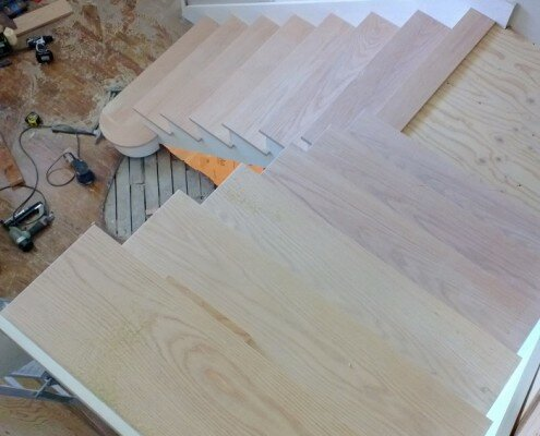 Red oak stairs
