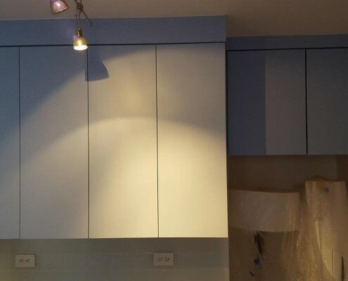 kitchen cabinets installation NYC in progress