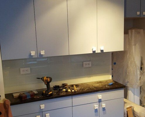 kitchen remodeling NYC in progress 2